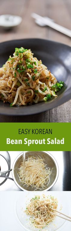 Outstanding My tips for making the best Sukju Namul (숙주나물 무침), an easy Korean bean sprout salad that comes together from a handful of basic ingredients in just minutes. The post Sukju Namul (Korean Bean Sprout Salad) appeared first on Sweet Recipes . Bean Sprout Salad, Sprouts Salad, Bean Sprouts, Bean Sprout Recipes, Korean Dishes, Korean Food, Vegetarian Recipes, Cooking Recipes, Healthy Recipes