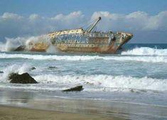 Los restos del naufragio del barco American Star están localizados al Noroeste del municipio de Jandía, justo en las inmediaciones de Playa Garcey, en la costa Oeste de Fuerteventura.