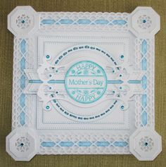 Mothers Day Card Sue Wilson Buckle Bar.  Spellbinders Tag.  Fishtail Banners.