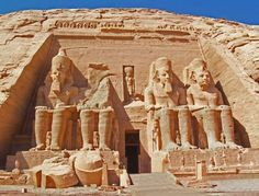 (LL) the Abu Simbel Temples in Egypt, via Best places in the World