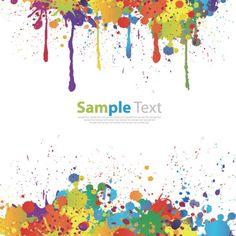 Splashes of color Paint splat vector. Paintball Birthday, Paintball Party, Birthday Painting, Art Birthday, Free Vector Graphics, Vector Art, Art Clipart, Eps Vector, Vector Design