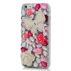 Amazon.com: Iphone 6 Plus Case - Mavis's Diary® 3D Handmade Bling... ($12) ❤ liked on Polyvore featuring accessories and tech accessories