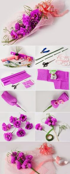 DIY Birthday Gift Ideas - DIY gifts ideas are always great to have when you do not have lots of money, and a friend's birthday is coming up. Paper Flowers Diy, Flower Crafts, Diy Paper, Homemade Gifts, Diy Gifts, How To Make Scrapbook, Diy Presents, Diy Birthday, Cute Crafts