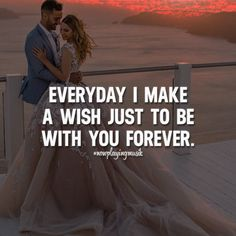 Everyday I make a wish just to be with you forever. Like this? Let us know, follow and share it with your friends! ➡️ @nowplayingmusik for love quotes!