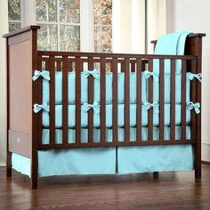 Image detail for -Solid Aqua Four-piece Crib Bedding Set   Carousel Designs 500x500 ...