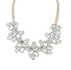 Choker Charms Crystal Gem Cubic Zircon Diamond Necklaces