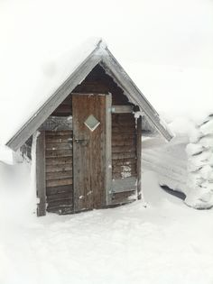 Outhouse in the Swedish mountains. Cold!