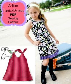 A-Line Tunic/Dress PDF Sewing Pattern - Whimsy Couture Products