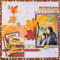 #papercraft #scrapbook #layout Autumn memories - Scrapbook.com