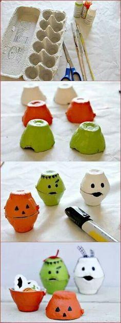 Des petites montres avec une boite à œuf #diy #halloween
