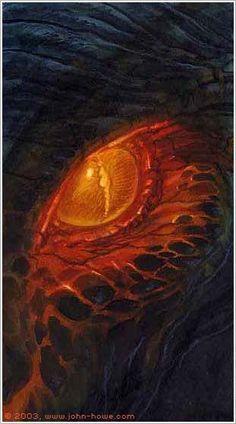 John Howe :: Illustrator Portfolio :: Home / From Hobbiton to Mordor / Cards and Such / Balrog Demon Dragon, Dragon Eye, Fantasy Dragon, Red Dragon, Tolkien, Magical Creatures, Fantasy Creatures, Fantasy World, Fantasy Art