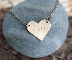 what if you trusted your heart? what if you trusted the grace just resting inside you? :: a heart soul mantra necklace