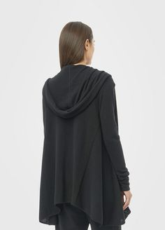 Cashmere Luxe Hooded Drape Cardigan | Vince