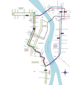 With frequent, affordable, and accessible service, the Portland Streetcar is a transportation option that serves the needs of a diverse community. Underground Map, System Map, Subway Map, Corporate Identity Design, Light Rail, 10 Year Anniversary, Fantasy Map, Design Graphique, Cartography