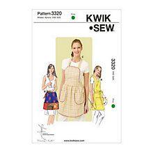Buy Kwik Sew Misses' Aprons Sewing Patterns, 3320 Online at johnlewis.com