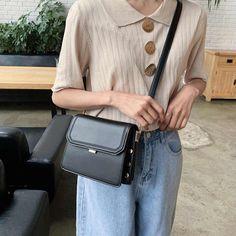 Yellow Shoulder Bags, Korean Women, Multifunctional, Fashion Handbags, Leather Bag, Shoulder Strap, Beige, Women Bags, Pecan