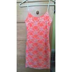 Nasty Gal Body Con Dress Neon orange and lace Nasty Gal Dresses