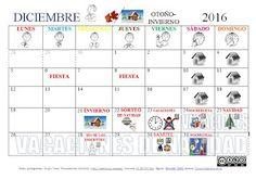 SUSANA Maestra de A.L.: Calendario DICIEMBRE