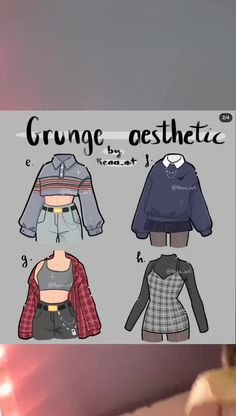 Estilos la moda Teen Fashion Outfits, Anime Outfits, Grunge Outfits, Fashion Design Drawings, Fashion Sketches, Kleidung Design, Jugend Mode Outfits, Drawing Anime Clothes, Manga Clothes