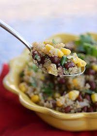 Quinoa and Black Bean Salad #vegan #recipes #veganrecipes