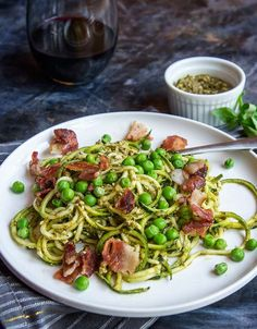Pesto Zoodles with F