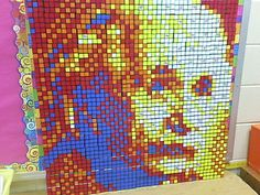 Rubik's Cube - Einstein made by my son and his gifted class using Rubik's cubes