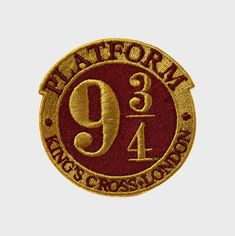 Platform 9 3/4 Embroidered Logo Patch   The Harry Potter Shop at Platform 9 3/4
