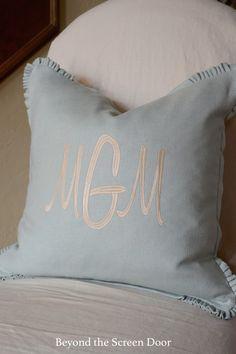 Monogrammed Pillow -
