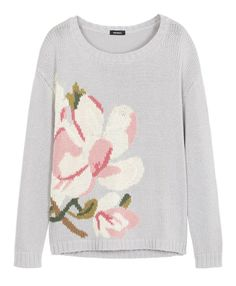 SALGARI Pull di cotone con intarsio floreale   MAX&Co. Online Shop