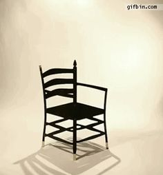 Cute chair optical illusion     (The Hidden Chairs by iBride)