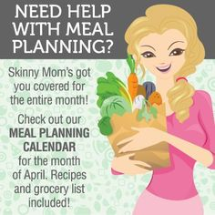 Need help with meal planning? Check this out! http://skinnymom.com/april-meal-planning-calendar/