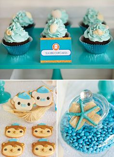 Octonauts party cookies and cupcakes