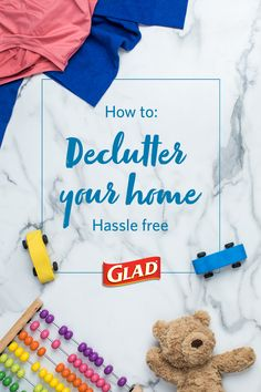 Need motivation to start decluttering your home? Check out Glad's decluttering guide for ideas that can help you turn any cluttered room into a clean, organized paradise in record time. House Cleaning Checklist, Household Cleaning Tips, Diy Cleaning Products, Cleaning Solutions, Cleaning Hacks, Grill Cleaning, Declutter Home, Declutter Your Life, Organizing Your Home