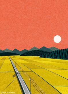 Cover illustration for Squet magazine, September 2016 issue Client: Graphic Illustration, Graphic Art, Graphic Design, Plakat Design, Gig Poster, Arte Pop, Illustrations And Posters, Landscape Art, Framed Art Prints