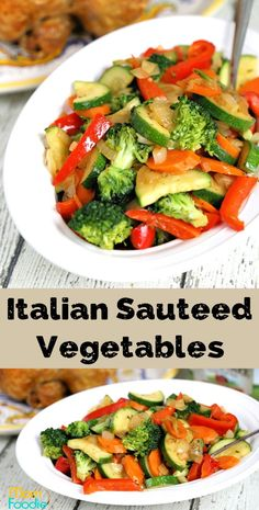 Sauteed vegetables are one of the the most classic of side dishes and quite nutritious. The quick and easy Italian seasoned vegetables recipe can make a simple rotisserie chicken into a great low carb meal. Healthy Vegetable Recipes, Vegetarian Recipes, Cooking Recipes, Mixed Veggie Recipes, Italian Vegetables, Sauteed Vegetables, Veggies, Vegetable Side Dishes, Veggie Side