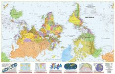 Cartographers for Social Equality (peter's projection maps - reverse north/south hemisphere)