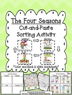 Students sort and match pictures with labels into categories to show what they have learned about the four seasons. Help students work on their fine motor skills by using this cut-and-paste activity! $ classroom