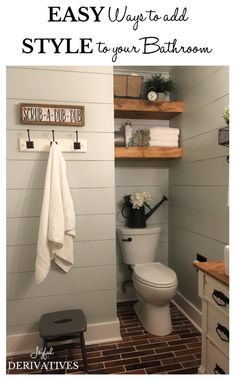 Bathroom Style / Easy Ways to Decorate / Decor Ideas / Styling Ideas