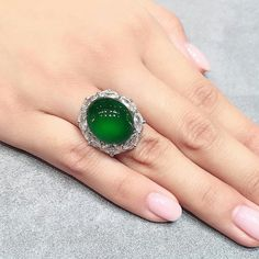 @francis_chiu an incredible jadeite and diamond ring. sold at christie's auction hong kong at 5,100,000 HKD. #christies #jadeite #diamond #ring