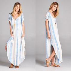 Tye Dye Pocketed Maxi in SKY BLUE 96% Rayon 4% Spandex. MADE IN THE USA. DO NOT PURCHASE THIS LISTING. Comment on size/color and a separate listing will be made. Item is Brand New without tags by manufacturer. Offers placed on listing will be ignored. Dresses