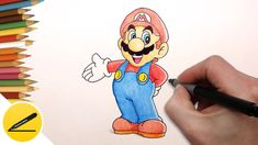 """How to draw Super Mario. In this video I show how to draw Mario from Nintendo games """"Super Mario Bros"""" and """"Super Mario Run"""". I draw Mario step by step. A pi..."""