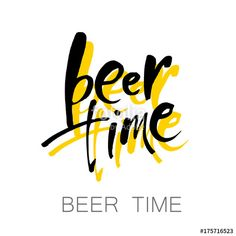 Vector: beer time lettering