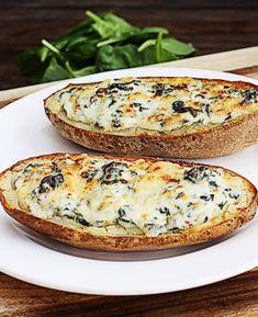 Spinach Artichoke Potato Skins    The Hopeless Housewife®