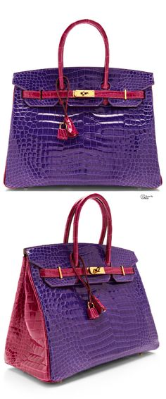 Billionaire Club Glamour The New Hermes Horseshoe Birkin in ultra violet  and rose that color combo is to die for 78574b55df