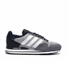 Achat Baskets Adidas Originals ZX 500 OG Weave pour Homme Bleu Marine/Blanc  Pas Cher