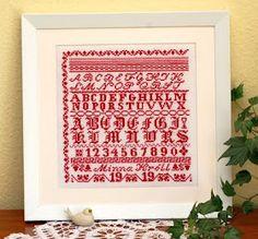 Tante Minna alphabet cross-stitch - free