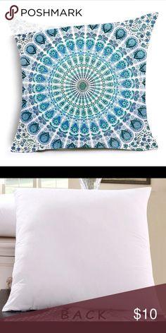 NWOT Two decorative pillow covers Beautiful  Hippie Mandala Cushion Cover Datura Polyester Bohemian Throw Pillow Stramonium Geometric Cushion Home Decorative Pillows.  NWOT Accessories