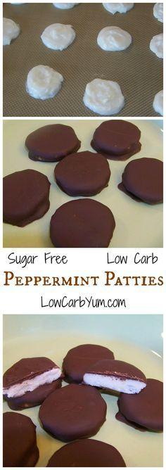 Homemade Sugar Free Peppermint Patties
