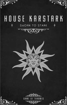 """House Karstark Sigil - Silver Sun Motto """"The Sun Of Winter"""" After watching the awesome Game of Thrones series I became slightly obsessed with each of th. Valar Morghulis, Valar Dohaeris, Game Of Thrones Series, Game Of Thrones Tv, Casas Game Of Thrones, Game Of Throne Poster, Serie Got, House Sigil, Game Of Thones"""