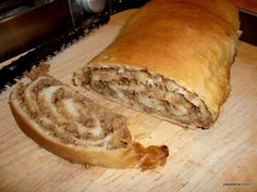 Potiča / Potiza - Slovenian Nut Bread —same dough recipe as mine,different filling Slovak Recipes, Czech Recipes, Hungarian Recipes, Slovak Nut Roll Recipe, Recipe For Nut Rolls, Hungarian Nut Rolls Recipe, Best Nut Roll Recipe, Ethnic Recipes, Cookbook Recipes